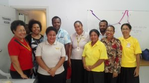 MiBank's Women's Banking Unit Team with ADB officials, Ginigoada trainers and Kagora Women's Association office bearers on the occasion of the Ginigoada graduation on Business Development Skills this week at Ginigoada Office, Port Moresby.